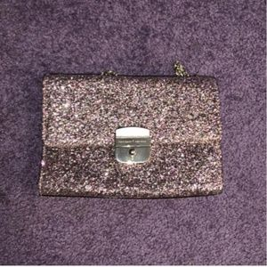 kate spade pink metallic crossbody bag nwot